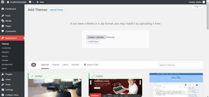upload teme u WordPressu
