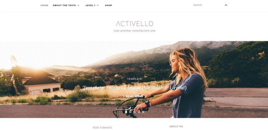 Activello wordpress tema