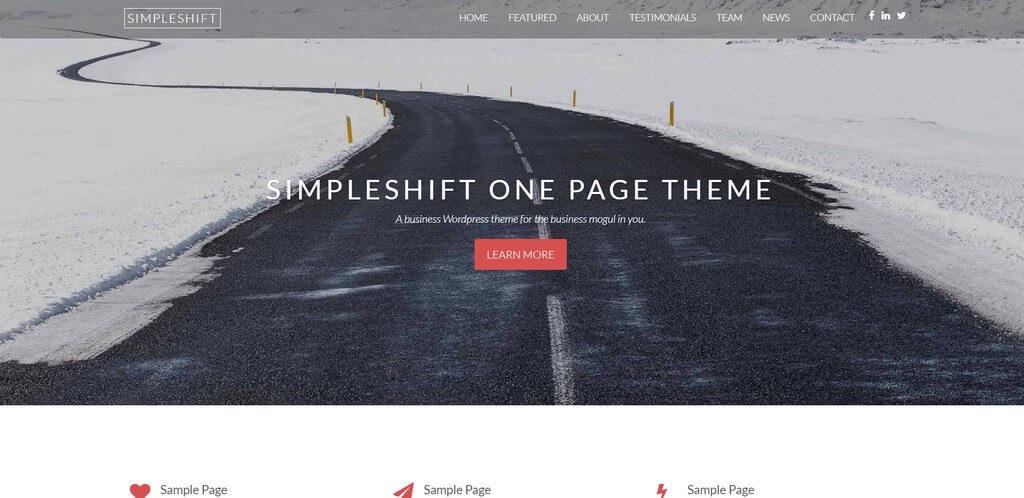 Simple shift besplatna tema