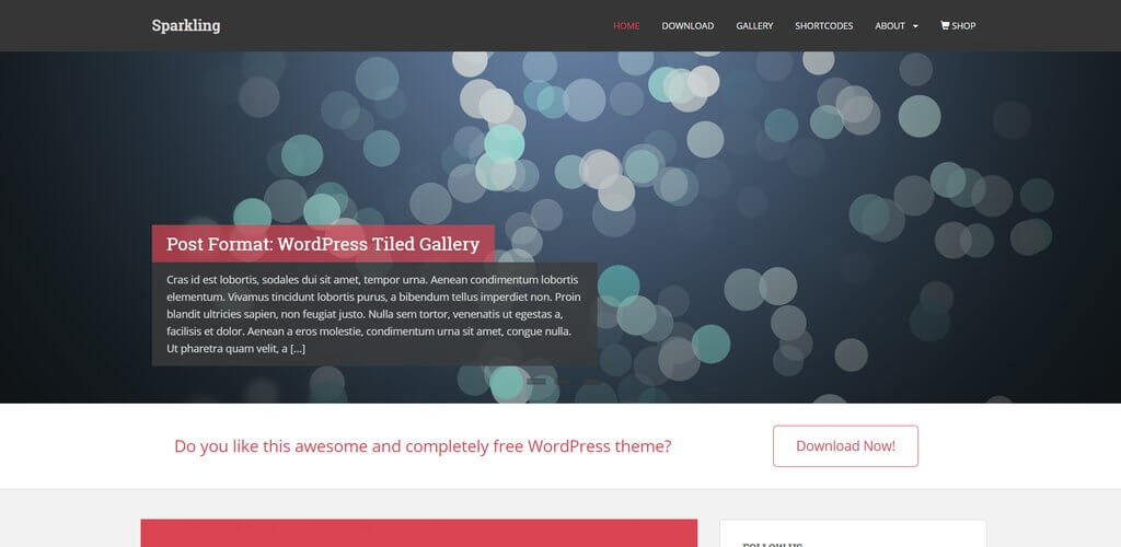 Sparkling besplatna tema wordpress