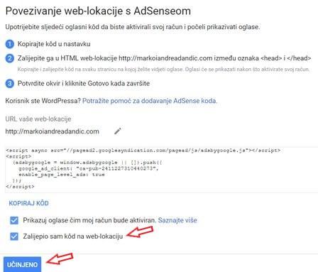 google adsense instaliran