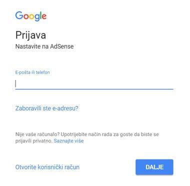 prijava u gmail